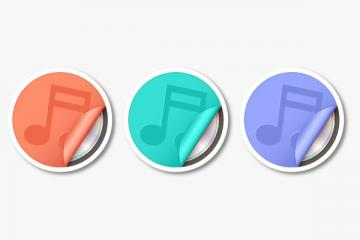 Create Sticker-like Music Icons in Adobe Illustrator