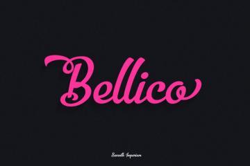 Bellico Typeface + Bonus Vectors