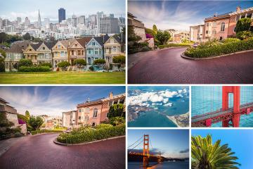 San Francisco Views Stock Photos