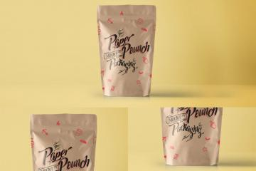PSD Paper Pouch Packaging Vol 4