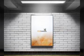 Subway Advertising Billboard Mockup