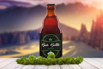 3 Beer Bottle PSD Mockups Set 2