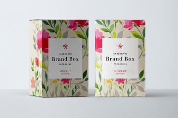 PSD Cardboard Packaging Mockup