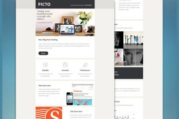 Picto PSD Email Template