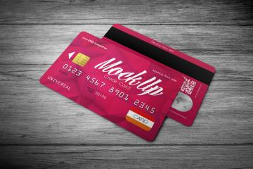 Credit Card Mockup PSD