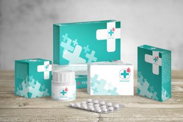 Medical Packaging PSD Mockup Set