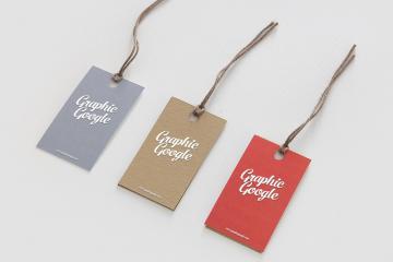 Hang Tag Label Mockup