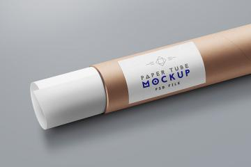 Shipping Tube and Paper Mockup
