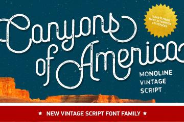 Canyons Vintage Script
