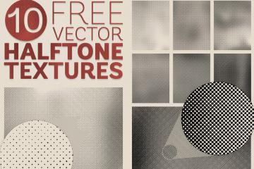 10 Free Vector Halftone Textures