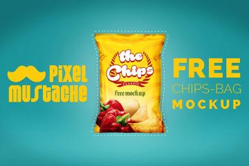 Realistic Chips Bag Mockup