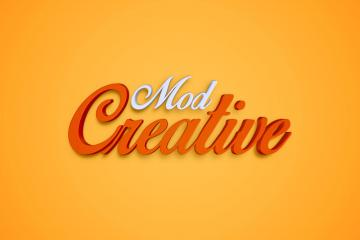 CreativeMod PSD Text Effect