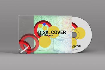 Disc and Cover PSD Mockup