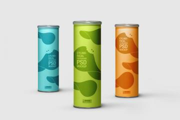 Cylindrical Packaging PSD Mockup