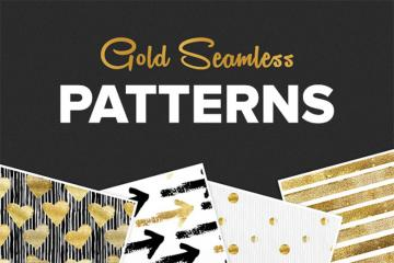 Seamless Gold Patterns Set