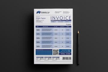 Free Invoice Template for Photoshop and Illustrator