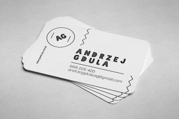 Rounded Business Card Mockup Set