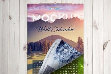 Hanging Wall Calendar Mockup