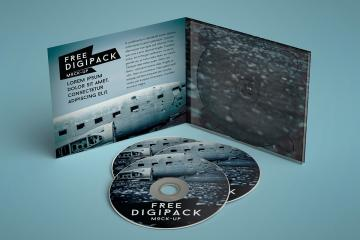 Digipack Disc Packaging Mockups
