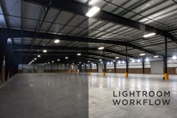 Empty Industrial Warehouse Lightroom Processing Workflow