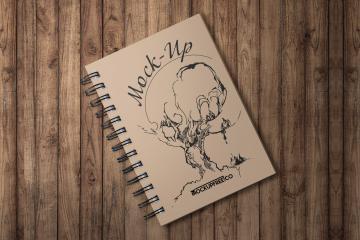 Spiral Notebook PSD Mockup