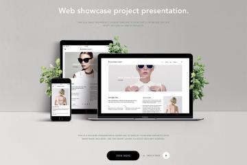 Website Showcase PSD Mockup