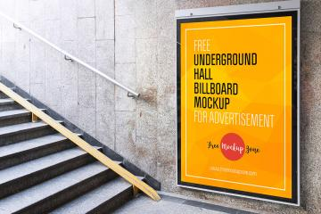 Underground Hall Billboard Mockup