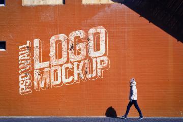 Urban Street Wall Logo Mockup