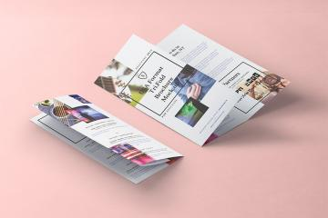 Full Sheet Trifold Brochure Mockup