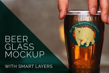 Beer Glass Logo Mockup