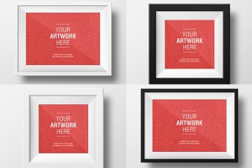 6 Clean Art Frame Mockups