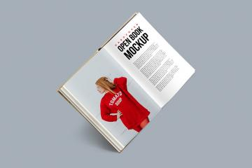 Hardcover Open Book Mockup
