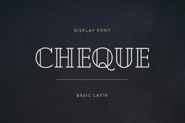 Cheque Display Font
