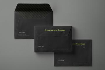 Dark Envelope Mockups