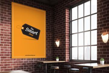 Indoor Restaurant Poster Mockup