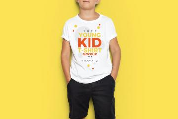 Young Kid T-Shirt Mockup
