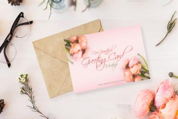 Beautiful Greeting Card Mockup