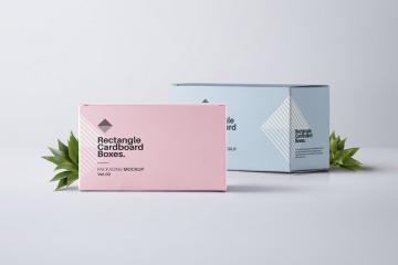 Rectangular Boxes PSD Mockup