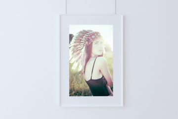 Hanging Framed Poster Mockup
