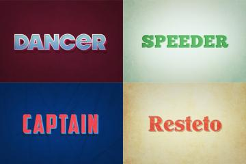 Retro Style Text Effects Volume 2