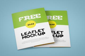 Bifold Brochure Leaflet Mockups