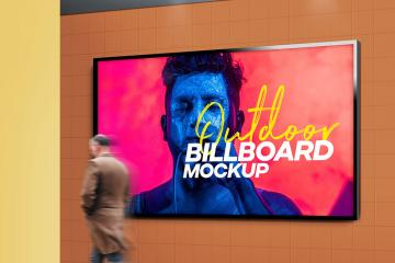 Outdoor Billboard Mockup