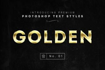 3 Golden Photoshop Layer Styles