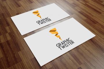 Angled Business Card Mockup