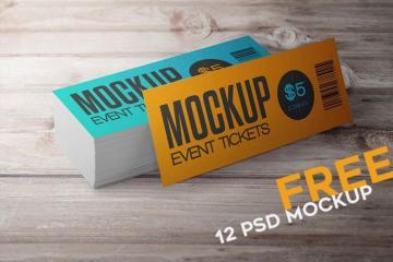 12 Event Ticket Mockups