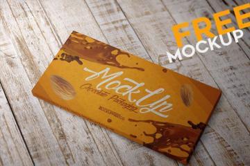Chocolate Packaging Box Mockup