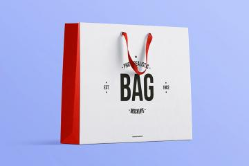 Photorealistic Shopping Bag PSD Mockup