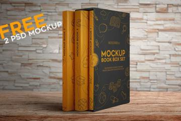 Box Set of Books Mockup Set