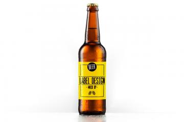 Beer Bottle Label Mockup