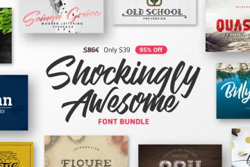 The Shockingly Awesome Font Bundle